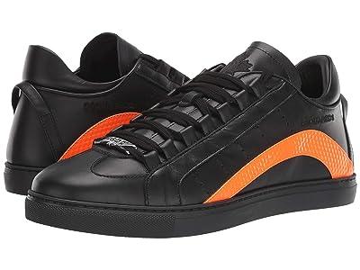 DSQUARED2 Low Sole Sneaker (Black/Orange) Men