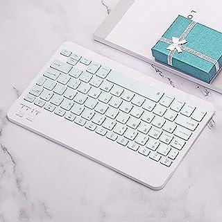 ZHEBEI Tablet computer keyboard portable mini external keyboard keypad ipad bluetooth wireless keyboard. 10.1淡蓝款(配充电线+小支架)