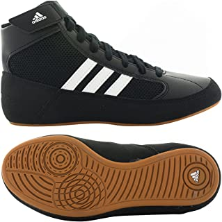 Adidas Hvc Mens Blue Synthetic Athletic Lace Up wrestling Shoes