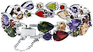 Classic Multi Gemstones Silver Sets, Amethyst Garnet Morganite Peridot