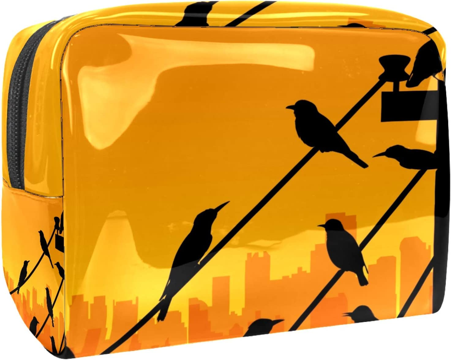 Cosmetic Bag for Women Max sold out 71% OFF Roomy Makeup Bags Sunset At Birds Backgro