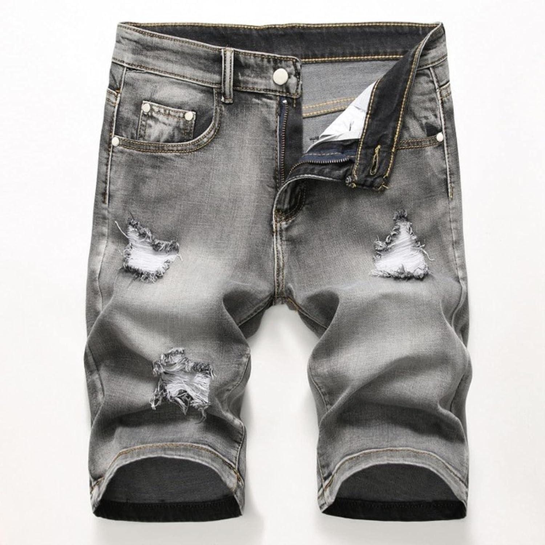 WoJogom 2021 Summer Men's Stretch Short Jeans Fashion Casual Slim Fit Homme Cotton Denim Shorts Male Clothes