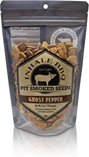 INHALE BBQ - Pit Smoked Ghost Pepper Pumpkin Seeds (2 Packs)
