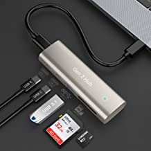 Rocketek Hub USB 3.1 Gen 2 con USB 3.0, Puertos Dual C y Ranura SD / TF para MacBook, Surface Pro, computadora portátil US...
