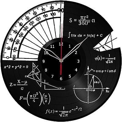 Math Themes Clock Record Wall Clock Fan Art Handmade Decor Unique Decorative Vinyl Clock12