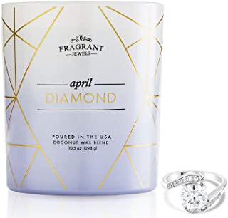 Fragrant Jewels Diamond April Birthstone Candle with Collectible Ring (Size 5-10)