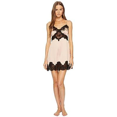 Dolce & Gabbana Silk with Lace Nightgown Sottoveste (Cipria Chiaro) Women