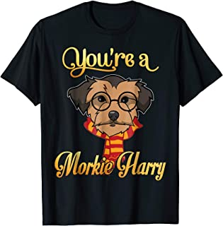 Smile You're A Morkie Harry Dog Potter Glasses Scarf Tshirt