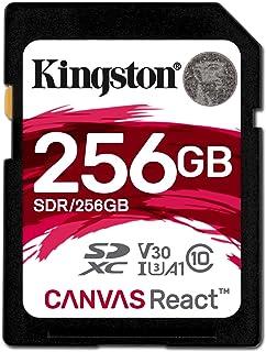 キングストン Kingston SDXCカード 256GB クラス10 UHS-I U3 V30 A1 対応 Canvas React SDR/256GB 永久保証
