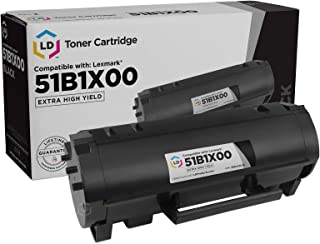 LD Compatible Toner Cartridge Replacement for Lexmark 51B1X00 Extra High Yield (Black)