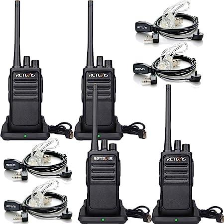 Retevis Rt617 Walkie Talkie Mit Headset Pmr Funkgerät Elektronik