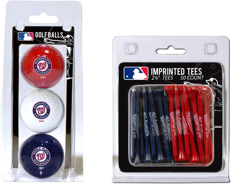 Team Golf Special sale item San Diego Mall MLB Washington Nationals Balls Logo 3 Imprinted