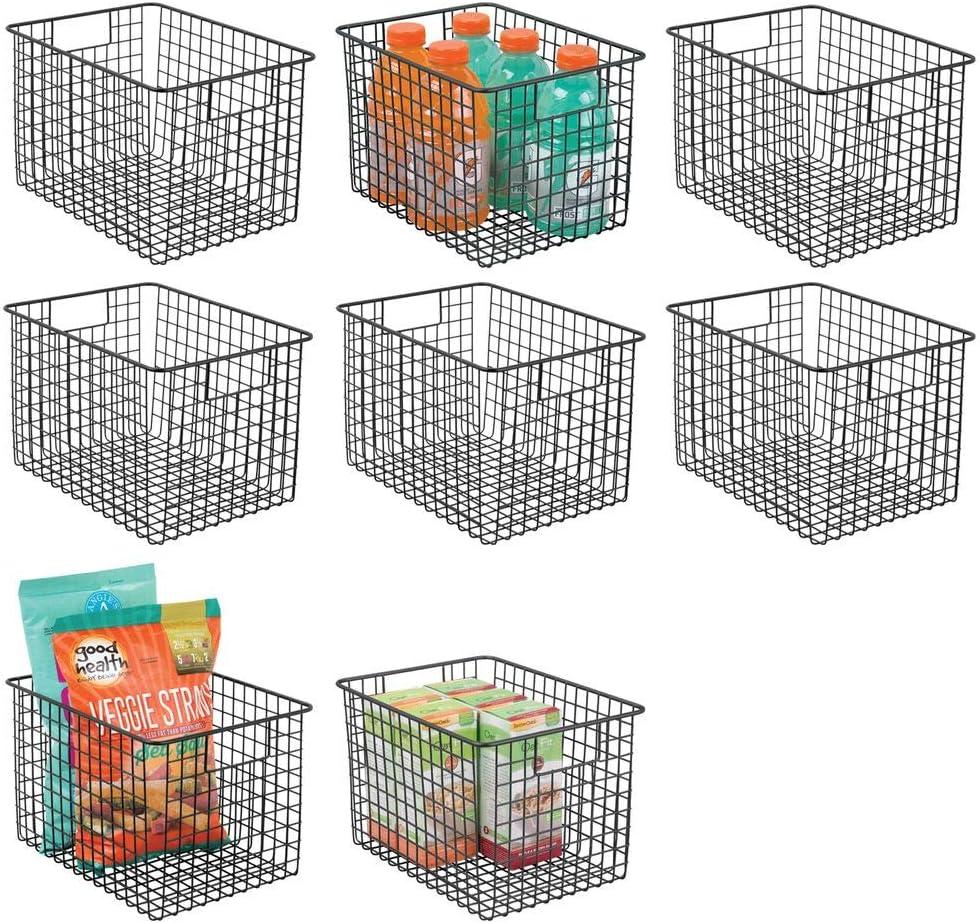 mDesign Farmhouse Decor Popular shop is the lowest price challenge Metal Wire favorite B Food Bin Organizer Storage