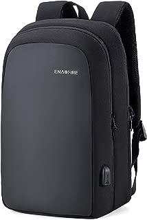 EnacFire ビジネスリュック PCバッグ バックパック USB充電ポート付き 15.6インチ収納 耐衝撃 撥水加工 多機能ポケット 超大容量 荷物ストラップ付き 通勤 通学 出張 旅行 カバン ブラック