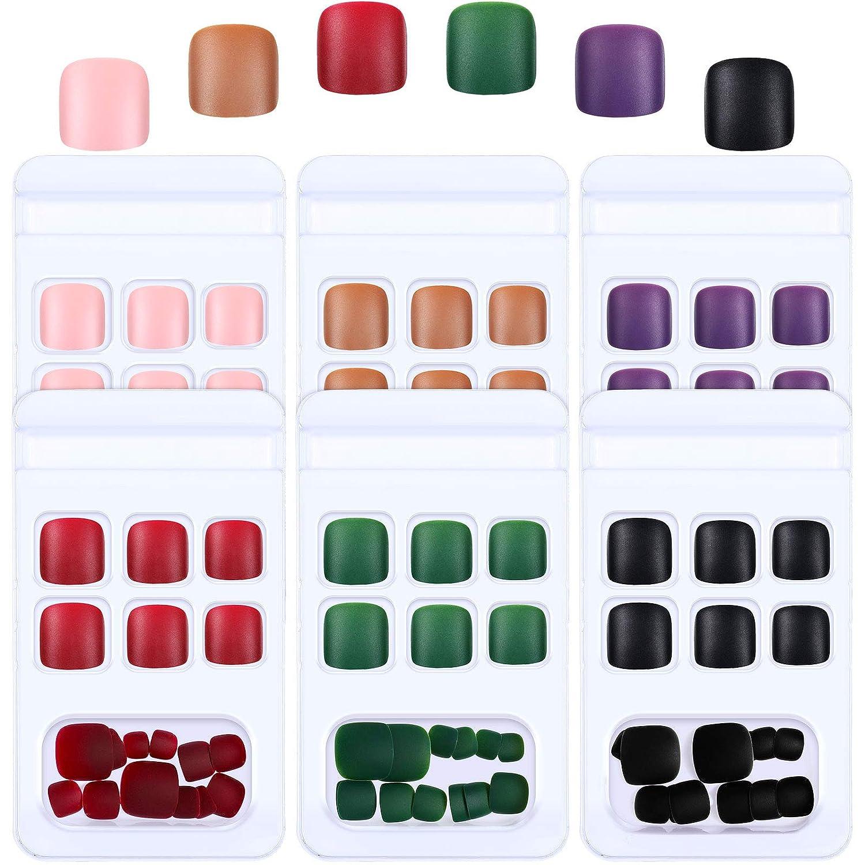 144 Many popular brands Pieces Solid Color False shipfree Toe Toenails on S Short Press Nails