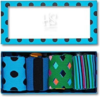 HS by Happy Socks - Fun Colorful Novelty Socks for Men & Women 4 Pack