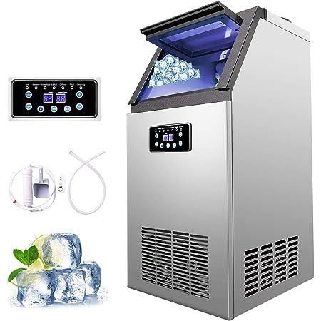 Z ZELUS Machine à Glace Commerciale avec Production de 60kg par 24h, Machine à Glaçons Électronique 300W-480W 4X9/36 pcs, Machine à Glace pour Comptoir de Bar dans la Maison