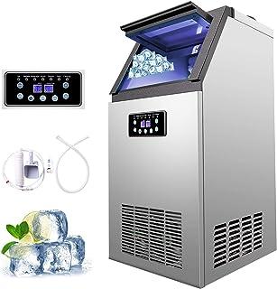 Z ZELUS Machine à Glace Commerciale avec Production de 60kg par 24h, Machine à Glaçons Électronique 300W-480W 4X9/36 pcs, ...