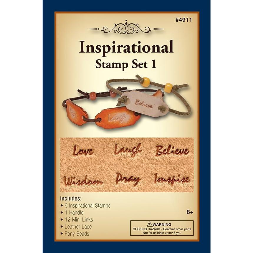 Realeather T4911-06 Inspirational Stamp Set with Mini Links Bracelets