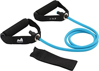 REEHUT Single Resistance Band, Exercise Tube - with Door Anchor and Manual Green, for Resistance Training, Physical Therapy, Home Workouts, Boxing Training