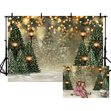New Christmas Backdrop for Photography 7x5 Dark Brown Rustic Wood Floor Green Xmas Tree Leavs Photo Background Newborn Glitter Snowflake Happy New Year Vinyl Backdrops for Photo Studio