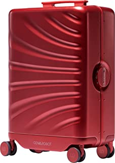 """Cowarobot Auto-follow Smart Luggage 20"""" Carry-on Suitcase with USB Charging Ports (Red) No Wristband"""