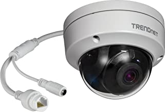 TRENDnet Indoor/Outdoor 8MP 4K H.265 120dB WDR PoE Dome Network Camera, TV-IP1319PI, IP67 Weather Rated Housing, SmartCove...