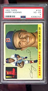1955 Topps #152 Harry Agganis ROOKIE RC Red Sox PSA 4 Graded Baseball Card MLB