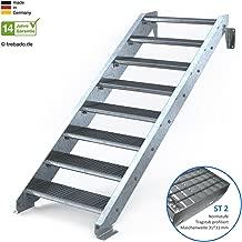 7 stufig 2 stufig Treppenrahmen 2-10 Stufen-Wahl Stahl-Treppe RAL 7016 Anthrazit Treppenholm//W/ählen Sie die Stufen-Anzahl
