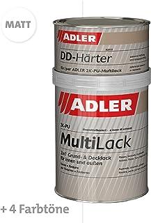 ADLER 2K-PU-Multilack Matt 1 kg blanco, incluye Endurecedor