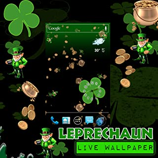 Live Wallpaper - St Patricks Day Leprechaun Falling