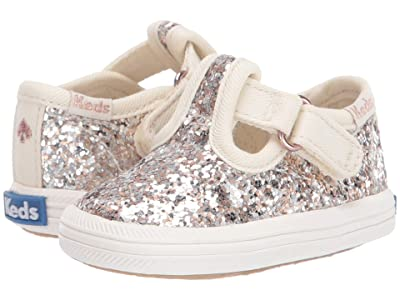 Keds x kate spade new york Kids Champion Toe Cap T-Strap (Infant/Toddler) (Multi Metallic Glitter) Girls Shoes