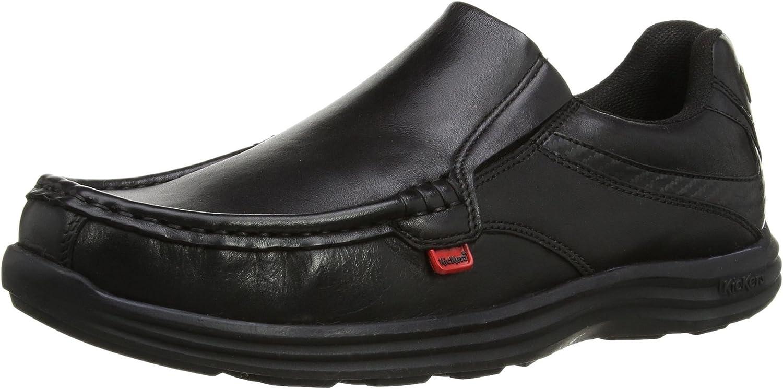 Kickers REASAN Slip Mens Leather Slip-On shoes Black
