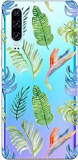 Suhctup Compatible con Huawei Enjoy 9 Funda Flor de TPU Transparente Diseño de Flores Patrón Cárcasa Ultra Fina Suave con ...