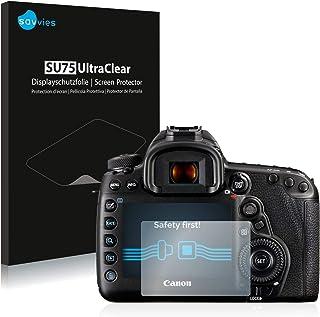 savvies Protector Pantalla Compatible con Canon EOS 5D Mark IV (18 Unidades) Pelicula Ultra Transparente