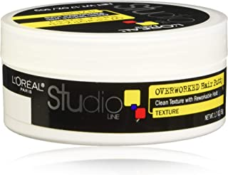 L'Oreal Paris Studio Line Overworked Hair Putty, 1.7 Ounce (Pack of 4)