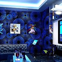 Caja de música de cabaret, papel tapiz 3D tridimensional para decoración de pasillo, fondo de pared, azul