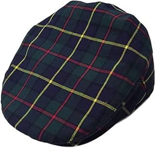 Major Wear Mens Official Navy Blue Scottish Tartan Flat Cap
