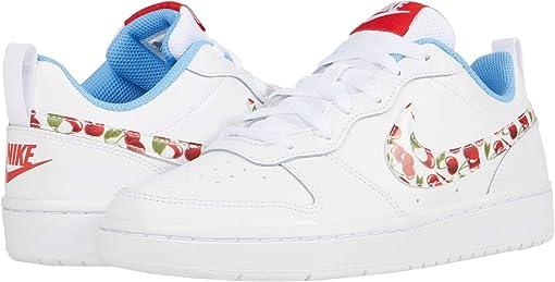 White/White/University Blue/Track Red