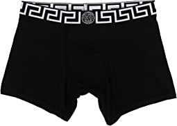 Versace - Iconic Long Boxer Brief with Black and White Band