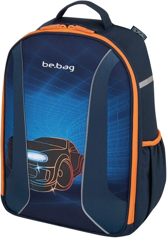 Herlitz 50008216 Schulrucksack be.bag airgo, Hauptfach mit Bücherfach, Organizer-Fach, Brustgurt, ergonomisches Rückenpolster, Motiv  Race Car, 1 Stück