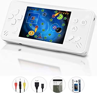 HigoKids Retro Classic Handheld Game Console Built in 218 Games AV Out Retro Childhood Family TV Video Game Controller 3.5 Inches LCD Large Screen 1 USB Charge Handheld Games for Adults-Pearl White