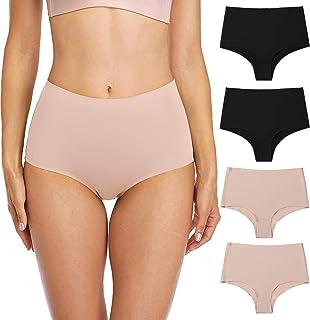 Anwell Womens Seamless Nylon Bikini Underwear Panties Stretch 4 Pack