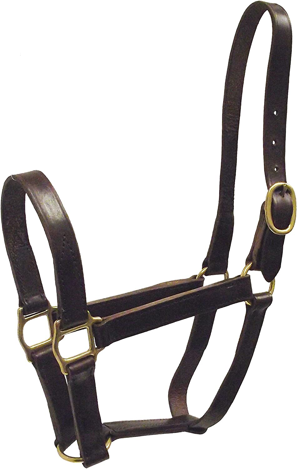 Hamilton 3 4Inch Leather Quality Halter, Weanling Size, Fits 200 to 300Pound, Havana Brown