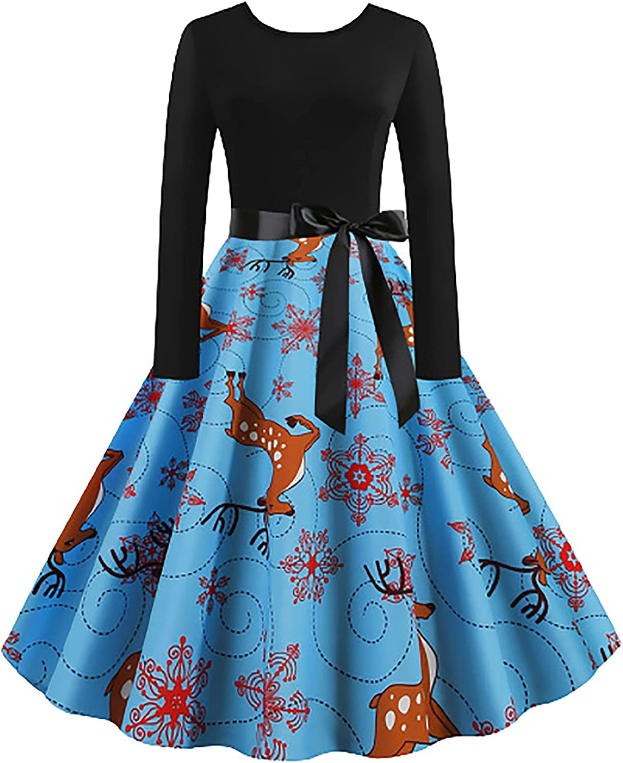 Christmas Evening Party Swing Dress Indefinitely New color Women Casual Fashion for Lon