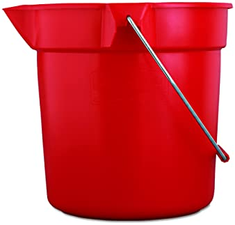 Gray Renewed Round Bucket Corrosive-Resistant FG296300GRAY Rubbermaid Commercial 10 Qt BRUTE Heavy-Duty