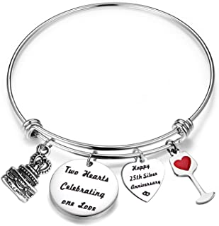 Best 25th wedding anniversary charms Reviews