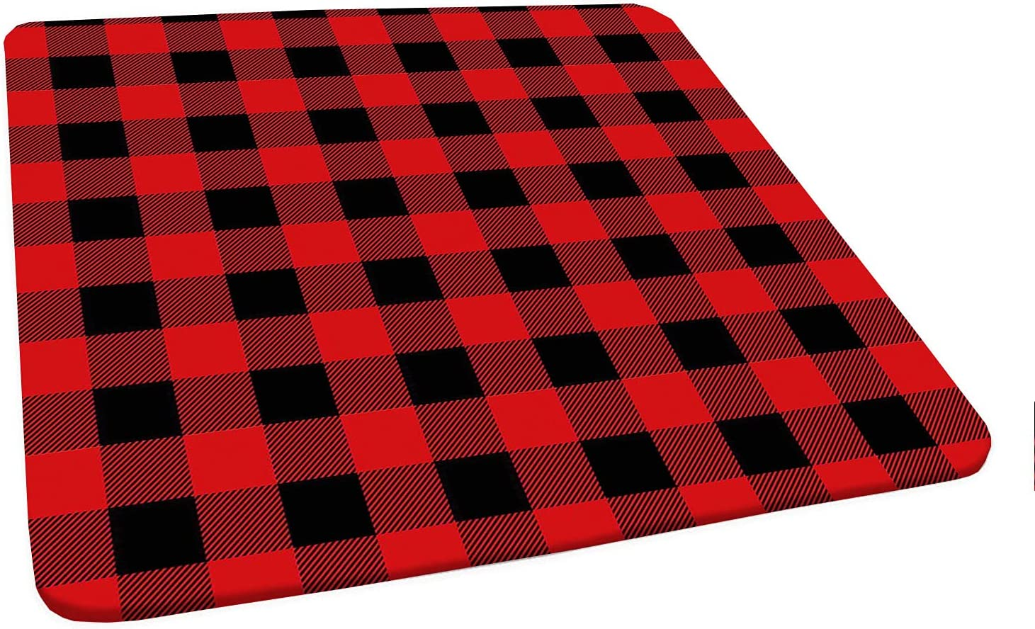 Square Fitted Red Plaid Spring new work one after another 5 ☆ popular Lumberjack Clothing Inspired Tablecloth