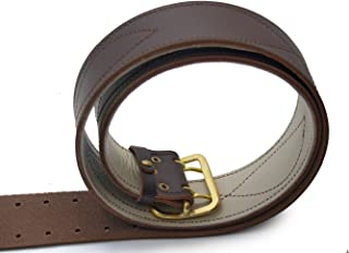 Russian Army brown officer genuine leather belt with leather lining