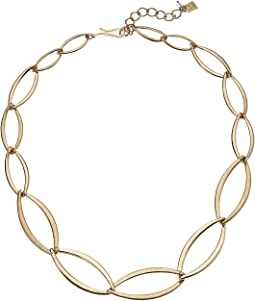 Gold Oval Link Short Necklace